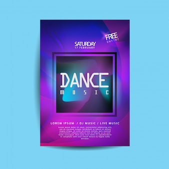 Electronic dance music flyer