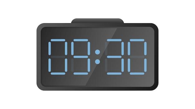 Электронные настольные часы. современные часы для рабочего места. изолированный. вектор.