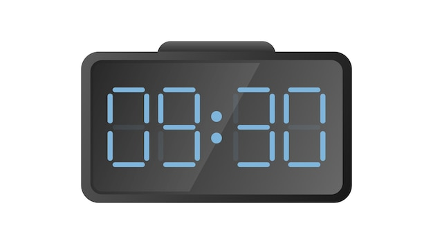 Electronic desk clock. modern watches for the workplace. isolated. vector.