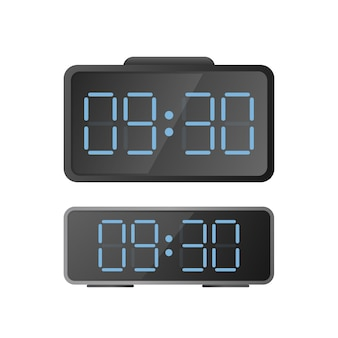Electronic desk clock. modern watches for the workplace. isolated.
