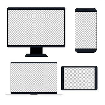 Electronic devices, device realistic, template for a content