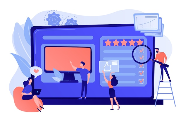 Sito web di feedback sui dispositivi elettronici, acquisto di recensioni dei clienti