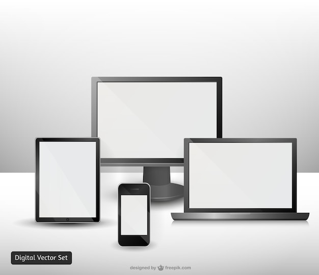 Electronic devices mock-ups