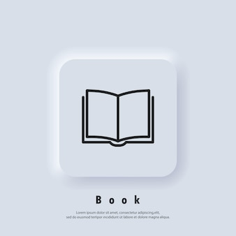 Electronic digital library. internet education concept, e-learning resources, distant online courses. vector. ui icon. neumorphic ui ux white user interface web button. neumorphism
