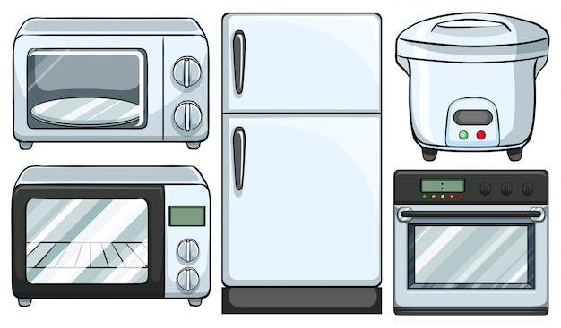 Apparecchiatura elettronica utilizzata nell'illustrazione della cucina