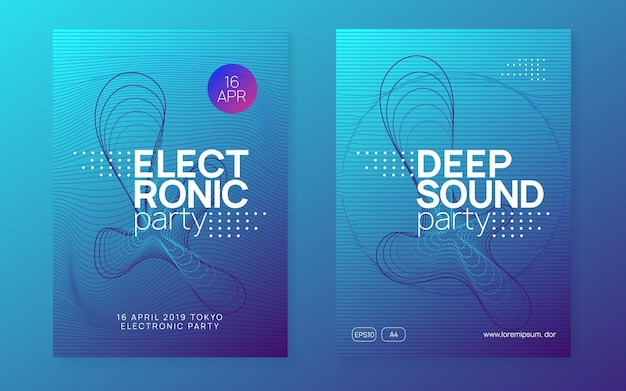 Electronic event. energy show cover set. dynamic gradient shape and line. neon electronic event. electro dance dj. trance sound. club fest poster. techno music party flyer.