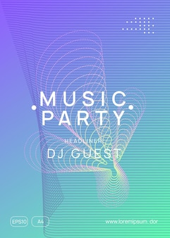 Electronic event. futuristic show magazine template. dynamic gradient shape and line. neon electronic event. electro dance dj. trance sound. club fest poster. techno music party flyer.
