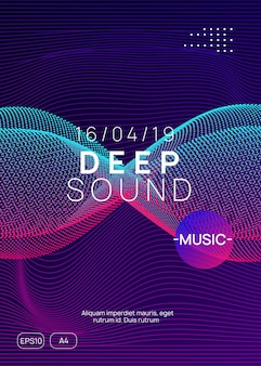 Electronic fest. dynamic gradient shape and line. abstract show banner template. neon electronic fest flyer. electro dance music. trance sound. club event poster. techno dj party.