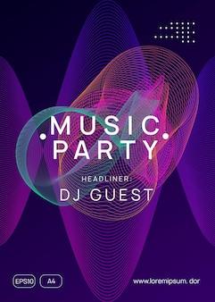 Electronic fest. dynamic gradient shape and line. creative concert brochure concept. neon electronic fest flyer. electro dance music. trance sound. club event poster. techno dj party.