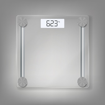 Electronic floor scales icon for measuring human weight.  illustration
