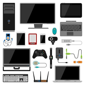 Electronic gadgets vector icons