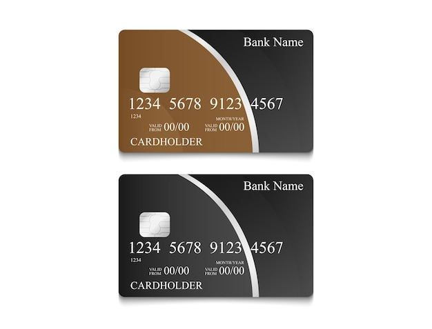 Дизайн электронных денег карты в черном цвете