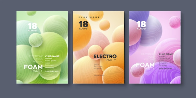 Electronic music festival ads poster template