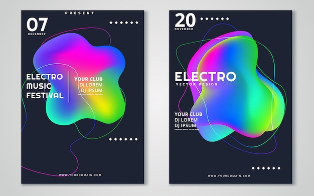 Electronic music festival advertising poster.