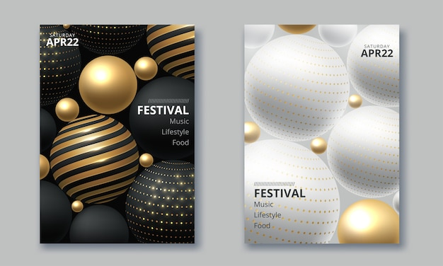 Фестиваль электронной музыки минимальный дизайн плаката