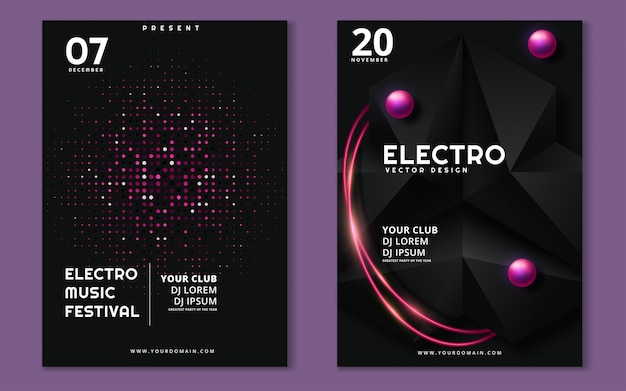 Electronic music festival minimal poster