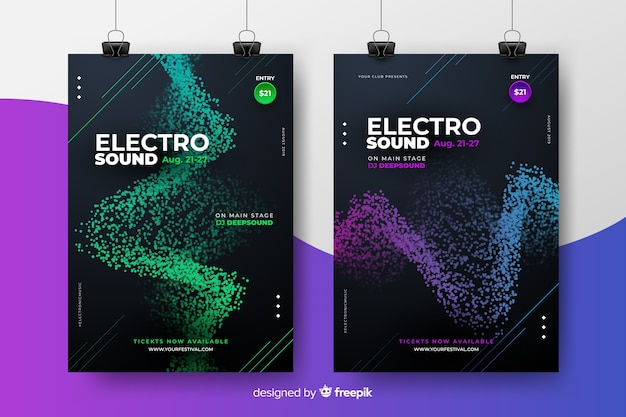 Electronic music festival poster collection
