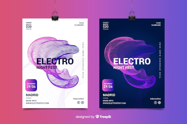 Electronic music festival poster templates