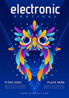 Шаблон электронного музыкального постера