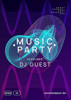 Electronic party. dynamic gradient shape and line. energy concert invitation concept. neon electronic party flyer. electro dance music. techno fest event. trance sound. club dj poster.