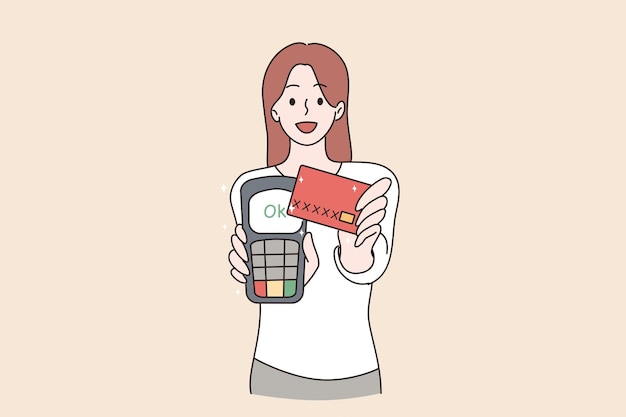Electronic payment and technologies concept