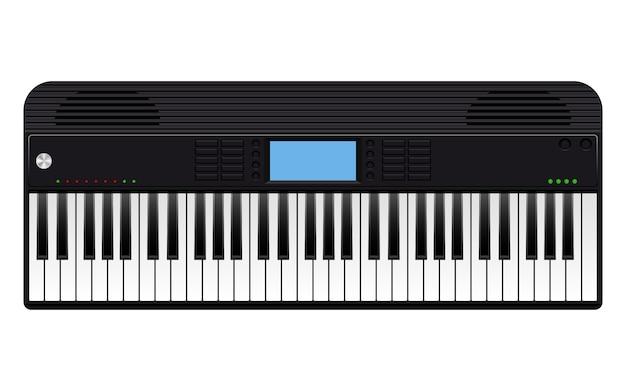 Электронное пианино дизайн иллюстрация на белом фоне