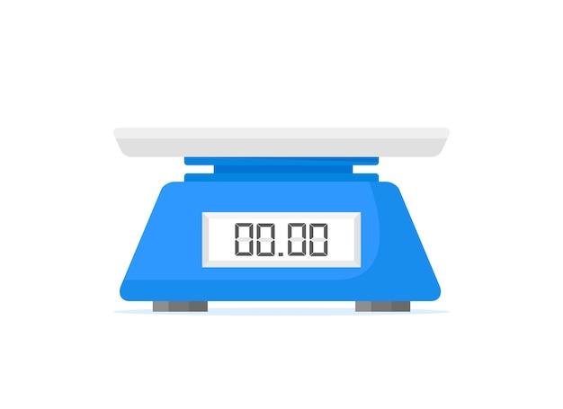 Электронные весы для продуктов, кухонные весы, изолированные на белом фоне