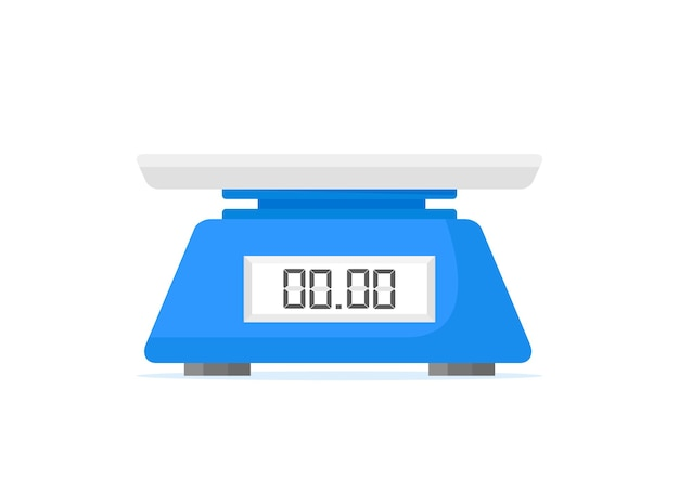 Electronic scales for products kitchen scales isolated on a white background