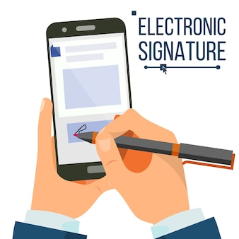 Electronic signature smartphone