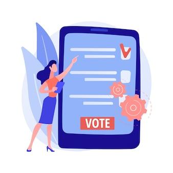 Электронное голосование абстрактная концепция иллюстрации