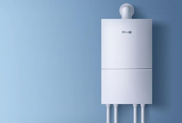 Электронный водонагреватель висит на стене.