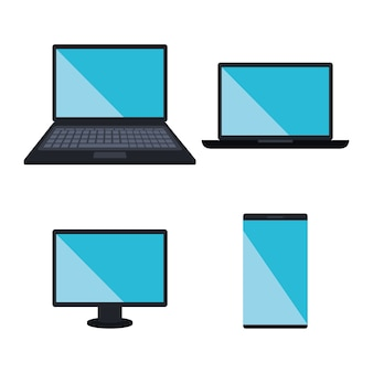 Electronics devices set icons vector illustration design