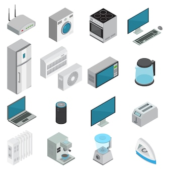 Electronics isometric set