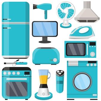 Electronics. set. kitchen. flat style.