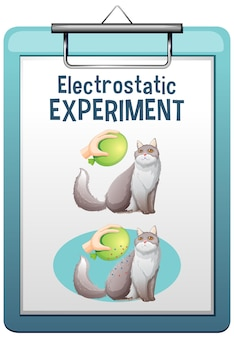 Electrostatic science experiment poster
