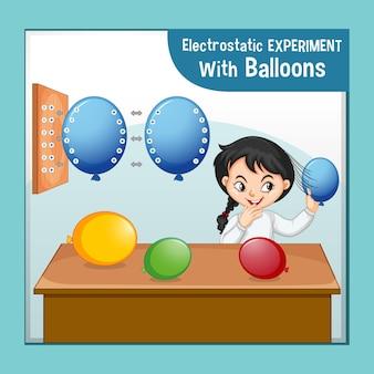 과학자 소녀와 정전기 과학 실험