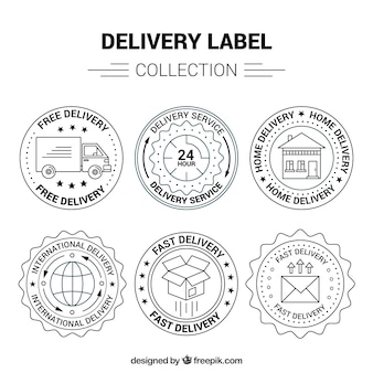Elegan pack of vintage delivery labels