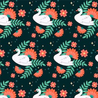 Elegan swan pattern