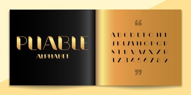 Набор элегантности шрифта и алфавита.