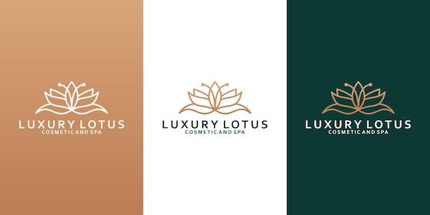 Элегантный дизайн логотипа лотоса для вашего спа, йоги, курорта, салона