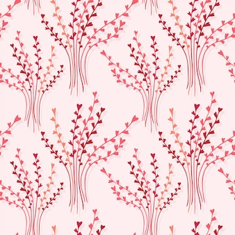 Elegance seamless texture with floral background.