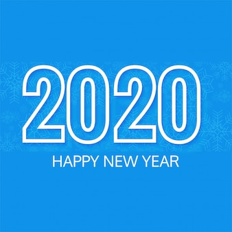 Elegant 2020 text new year background