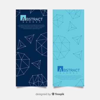 Elegant abstract banners with geometric shapes