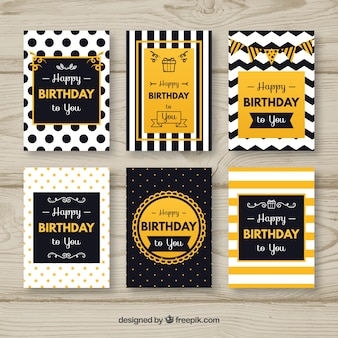 Elegant abstract birthday card pack