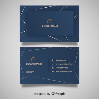 Elegant abstract business card template