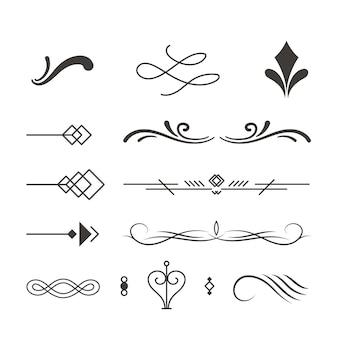 Элегантные абстрактные элементы дизайна