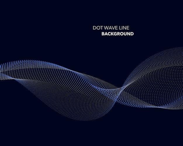 エレガントな抽象的なドット波線未来的なスタイルの背景