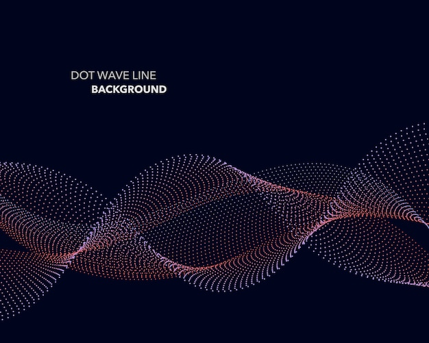 Elegant abstract  dot wave line futuristic style background