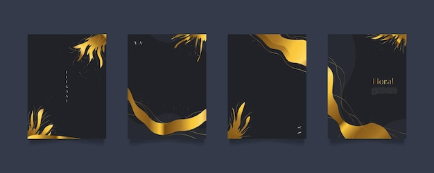 Elegant abstract floral background templates, suitable for wall decoration, wallpaper, cover, invitation, banner, brochure, poster, or card