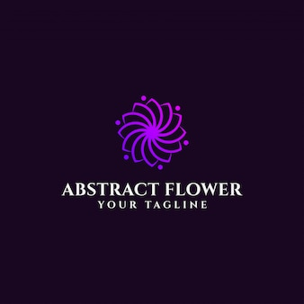 Elegant abstract flower logo  template